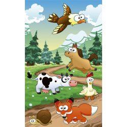 ANIMALS AND FOREST fotótapéta, poszter, vlies alapanyag, 150x250 cm