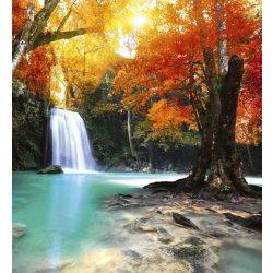 DEEP FOREST WATERFALL fotótapéta, poszter, vlies alapanyag, 225x250 cm