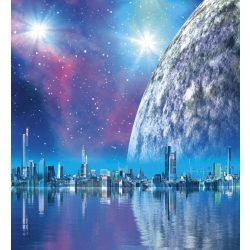 FUTURISTIC CITY fotótapéta, poszter, vlies alapanyag, 225x250 cm