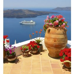 GREECE fotótapéta, poszter, vlies alapanyag, 225x250 cm