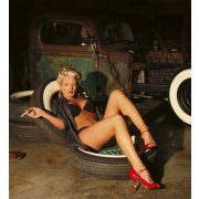 GIRL IN GARAGE fotótapéta, poszter, vlies alapanyag, 225x250 cm