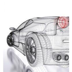 CAR MODEL LIGHT fotótapéta, poszter, vlies alapanyag, 225x250 cm