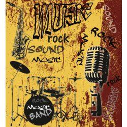MUSIC ORANGE fotótapéta, poszter, vlies alapanyag, 225x250 cm