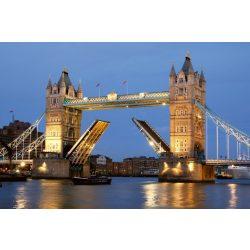 TOWER BRIDGE NIGHT fotótapéta, poszter, vlies alapanyag, 375x250 cm