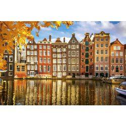HOUSES IN AMSTERDAM fotótapéta, poszter, vlies alapanyag, 375x250 cm