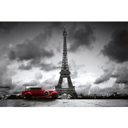RETRO CAR IN PARIS fotótapéta, poszter, vlies alapanyag, 375x250 cm