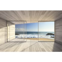 LARGE BAY WINDOW fotótapéta, poszter, vlies alapanyag, 375x250 cm