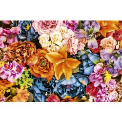 VINTAGE FLOWERS fotótapéta, poszter, vlies alapanyag, 375x250 cm