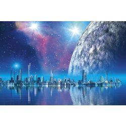 FUTURISTIC CITY fotótapéta, poszter, vlies alapanyag, 375x250 cm