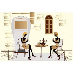 STREET CAFE fotótapéta, poszter, vlies alapanyag, 375x250 cm