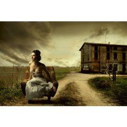 GIRL ON ARMCHAIR fotótapéta, poszter, vlies alapanyag, 375x250 cm