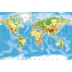 WORLD MAP fotótapéta, poszter, vlies alapanyag, 375x250 cm