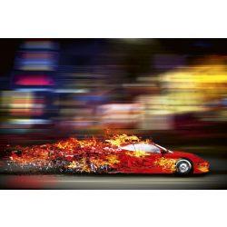 SPEEDING CAR fotótapéta, poszter, vlies alapanyag, 375x250 cm