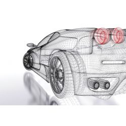 CAR MODEL LIGHT fotótapéta, poszter, vlies alapanyag, 375x250 cm