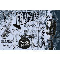 MUSIC BLUE fotótapéta, poszter, vlies alapanyag, 375x250 cm
