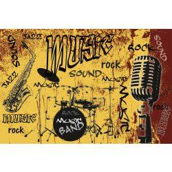 MUSIC ORANGE fotótapéta, poszter, vlies alapanyag, 375x250 cm