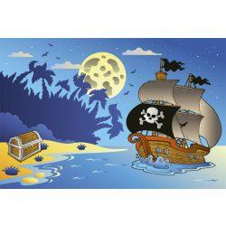 PIRATE SHIP fotótapéta, poszter, vlies alapanyag, 375x250 cm