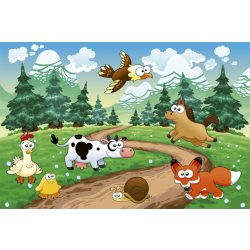ANIMALS AND FOREST fotótapéta, poszter, vlies alapanyag, 375x250 cm