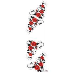 Virágfűzérek matrica falra, csempére, bútorra