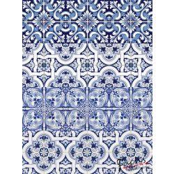 Kék csempe minta matrica csempére