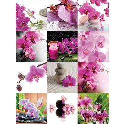 Orchideás matrica csempére