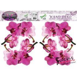 Orchideák matrica falra, csempére, bútorra