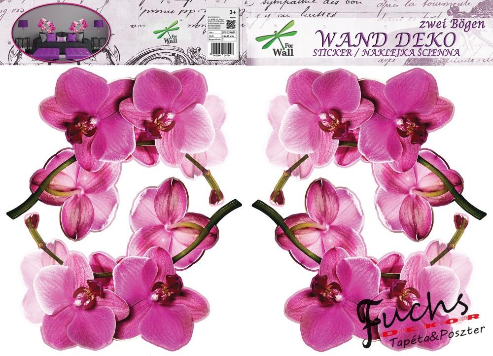 Orchideák matrica falra 99ae46a2f3