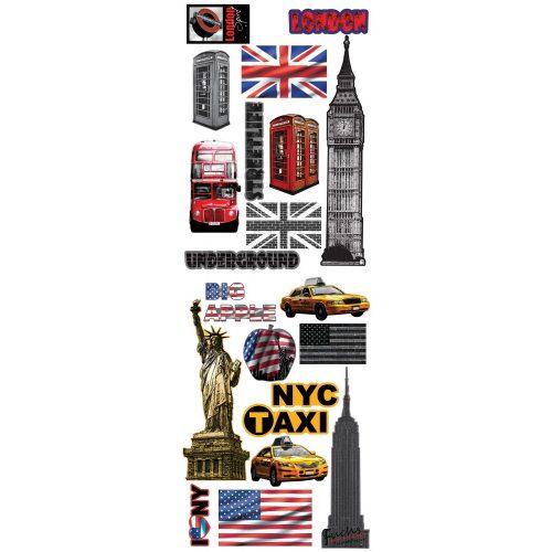 New York és London matrica falra 9b00faebd2