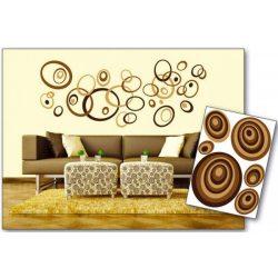 Brown Circles öntapadós matrica
