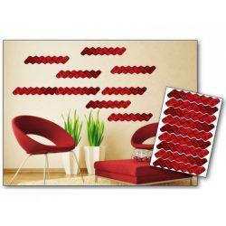 Red Waves öntapadós matrica