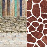 Natural (kő, fa, tégla, bőr) poszterek