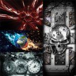 Absztrakt, design poszterek