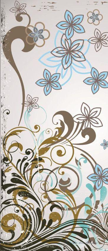 Virág minta vlies poszter, fotótapéta 037VET /91x211 cm/