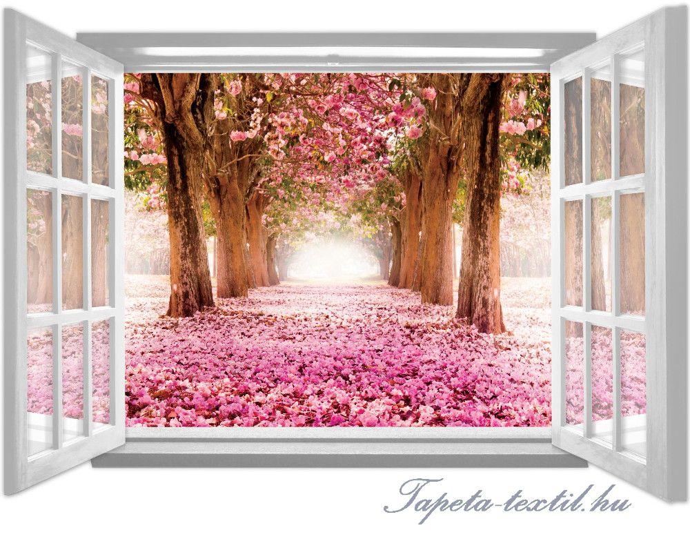 Ablakból a kilátás vlies poszter, fotótapéta 1062VEZ4 /201x145 cm/