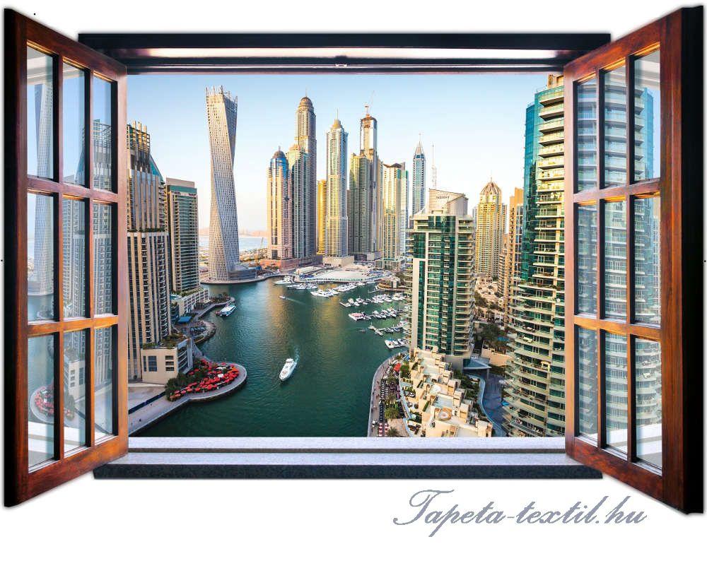 Kilátás az ablakból vlies poszter, fotótapéta 1941VEZ4 /201x145 cm/