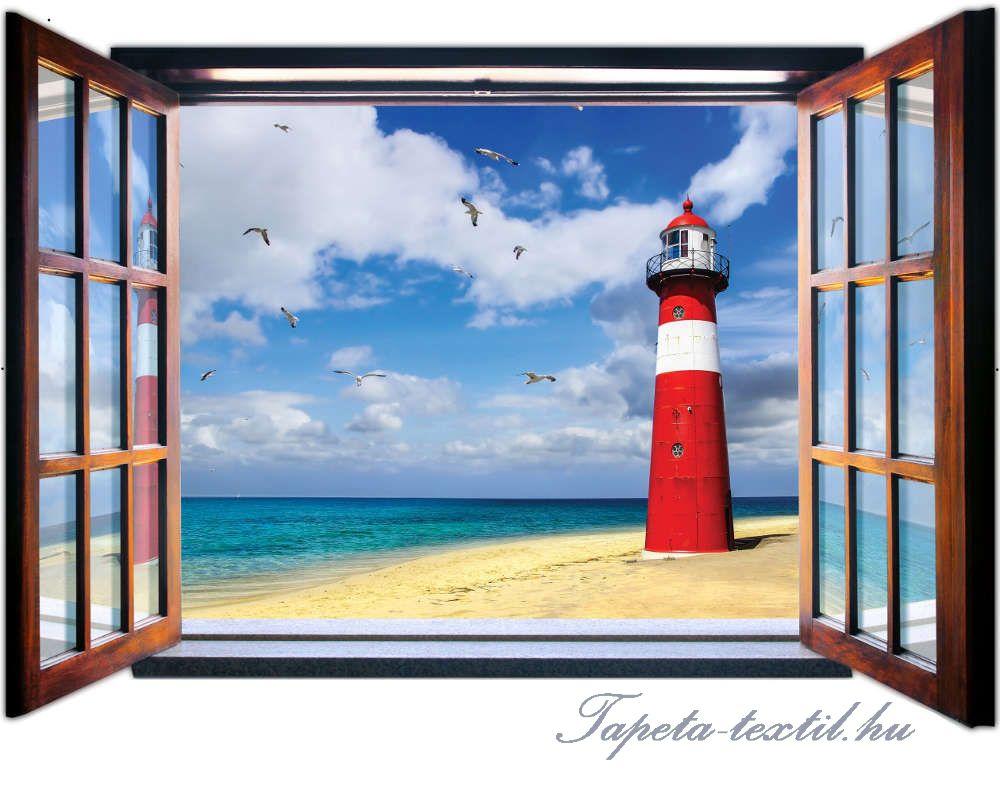 Kilátás az ablakból vlies poszter, fotótapéta 1950VEZ4 /201x145 cm/