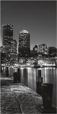 Fekete-fehér városkép vlies poszter, fotótapéta 312VET /91x211 cm/