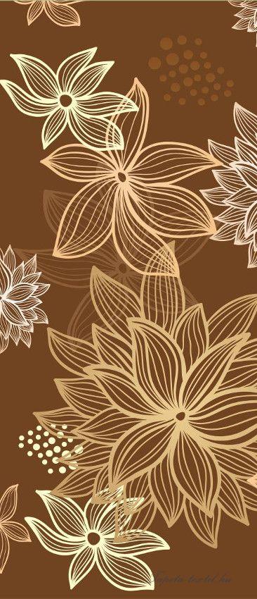 Virág minta vlies poszter, fotótapéta 8-015VET /91x211 cm/