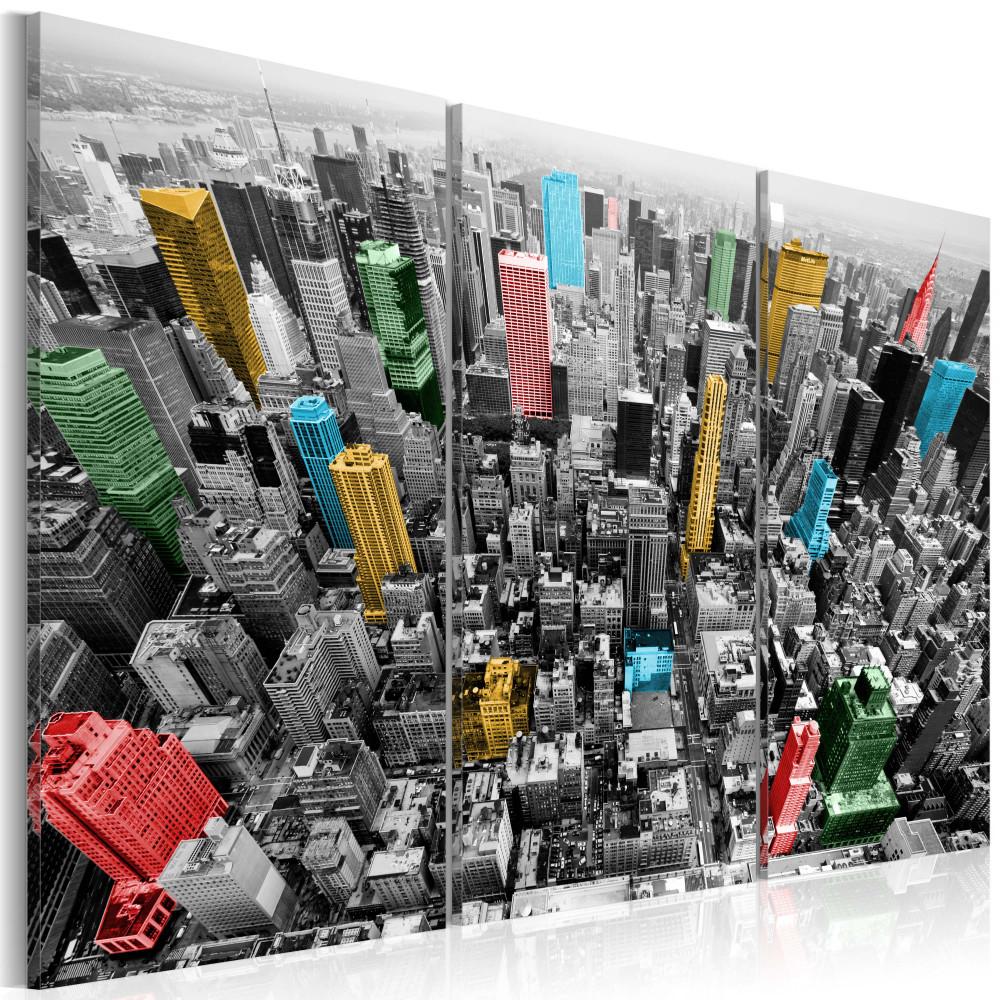 Kép - New York in the CMYK color model