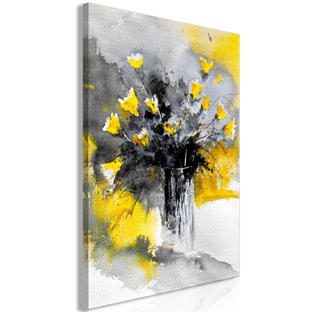Kép - Bouquet of Colours (1 Part) Vertical Yellow
