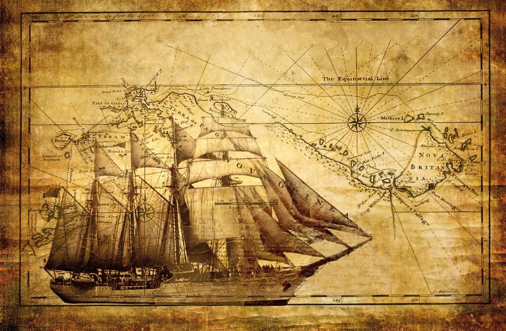 Hajó poszter, fotótapéta Vlies (208 x 146 cm)