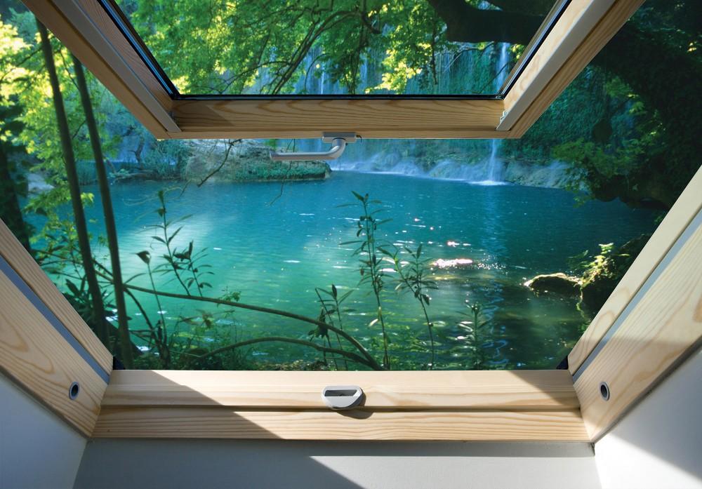 Folyóra néző ablak poszter, fotótapéta 10410 több méretben, alapanyagban