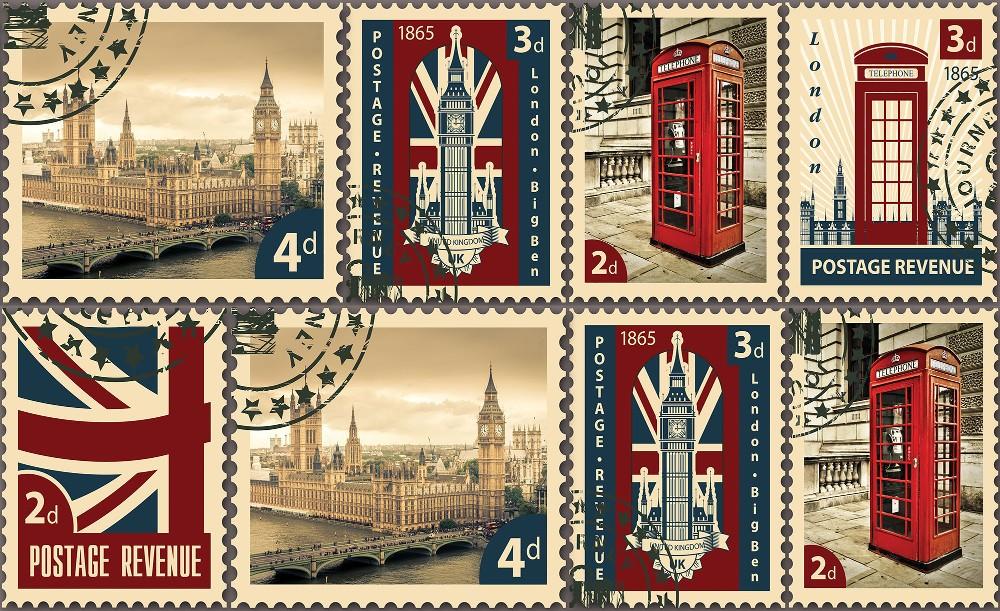 Londoni anzix poszter, fotótapéta Vlies (312 x 219 cm)