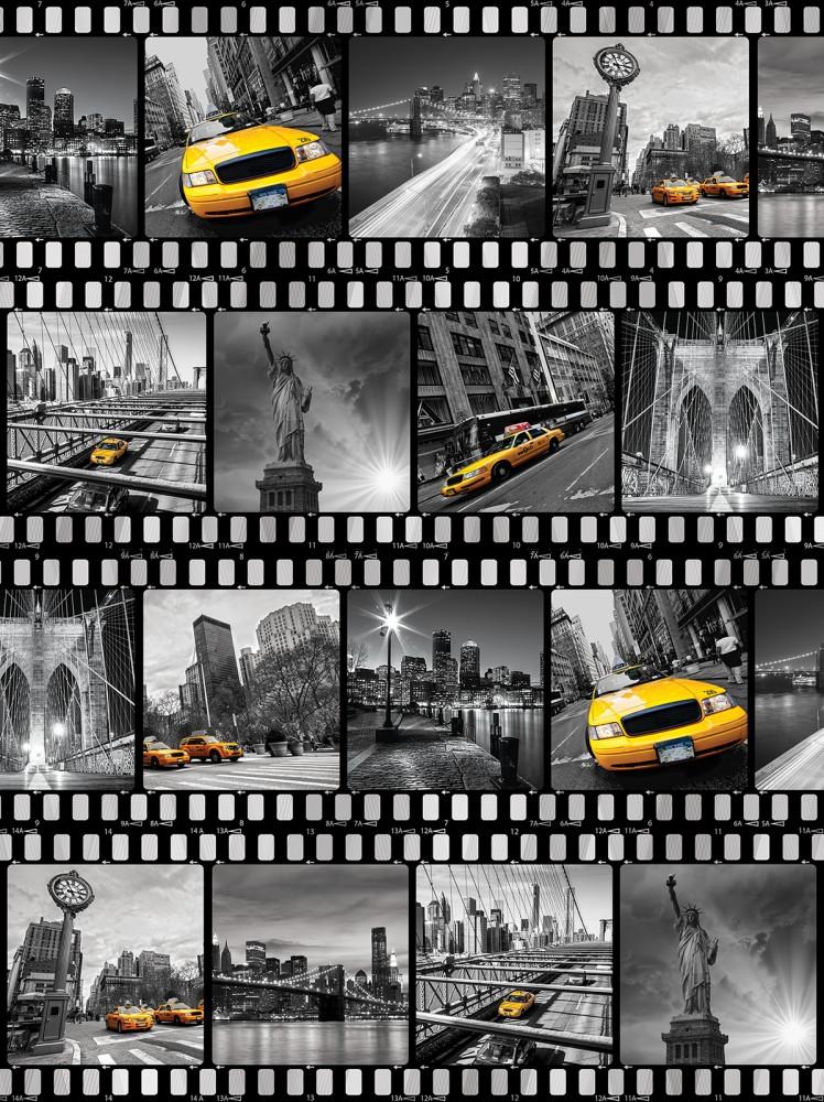 New York filmkockákon poszter, fotótapéta, Papír (184x254 cm, álló)