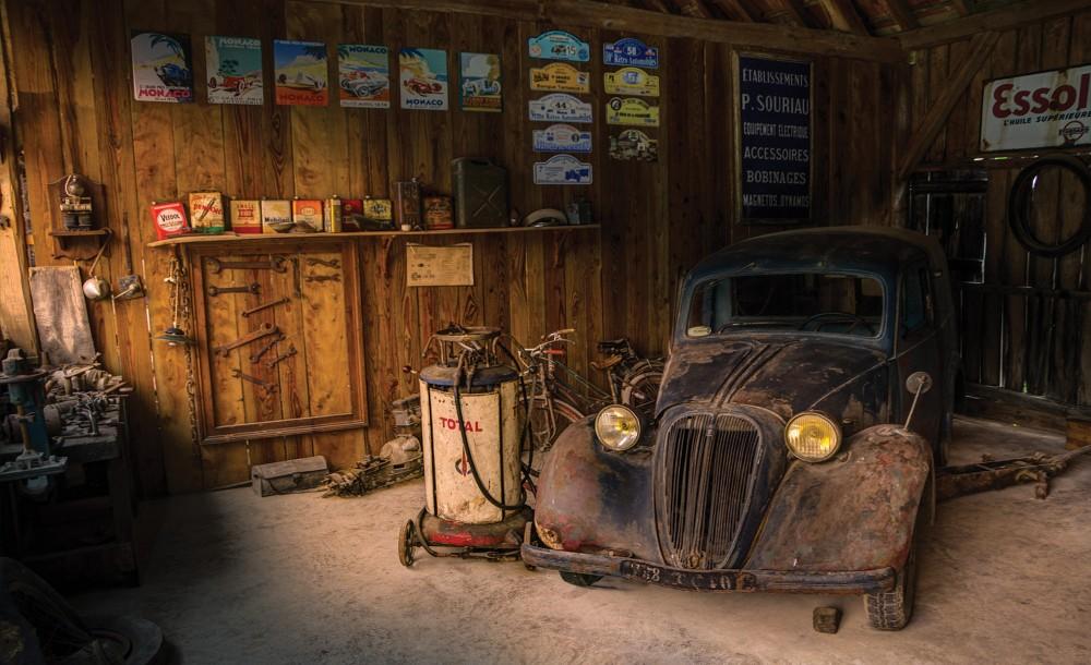 Veterán autó poszter, fotótapéta (368 x 254 cm)