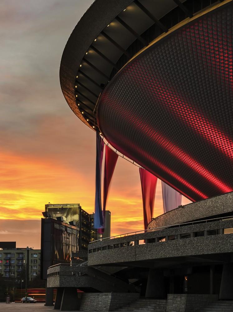Katowice a naplementében poszter, fotótapéta, Vlies (206x275 cm, álló)