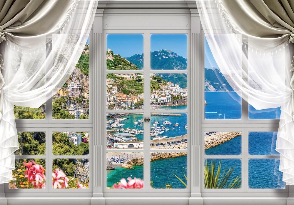 Öbölre néző ablak poszter, fotótapéta (368 x 254 cm)