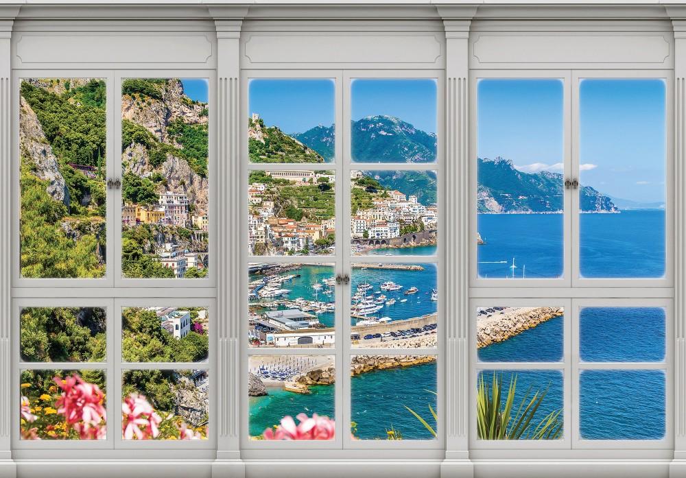 Öbölre néző ablak poszter, fotótapéta (256 x 184 cm)