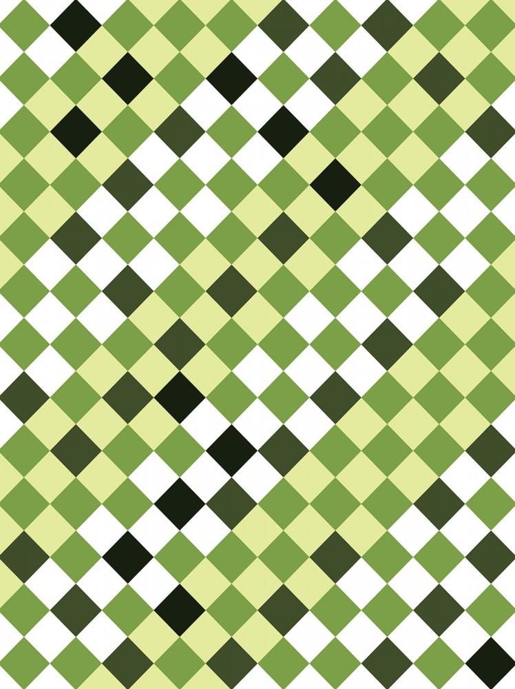Zöld minta poszter, fotótapéta, Papír (184x254 cm, álló)
