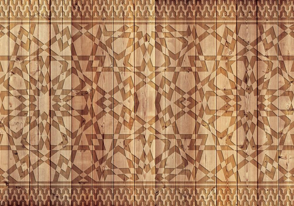 Absztrakt minta-faalapon poszter, fotótapéta, Vlies (104 x 70,5 cm)